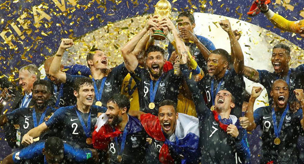 2018 yılında Rusya'da düzenlenen kupayı Fransa kazandı